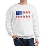 American Flag made of Snowmobiles Sweatshirt
