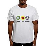 Peace Love Aussies Light T-Shirt