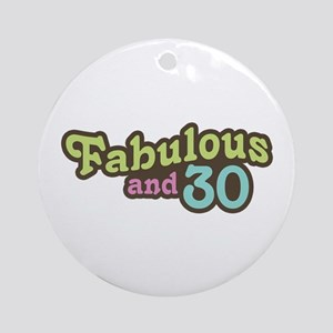 30th Birthday Ornament (Round)