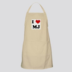 I Love MJ BBQ Apron