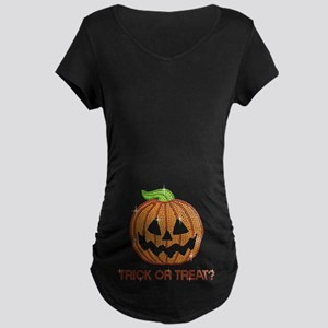 Funny Printed Rhinestone Pumpkin Maternity T-Shirt
