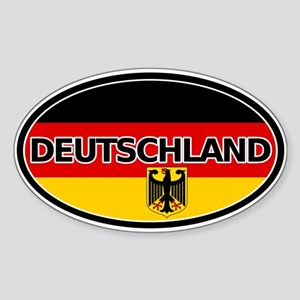 Germany Car Sticker Oval by LandsAndPeople.com