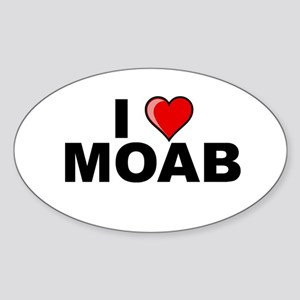 I Love Moab Oval Sticker