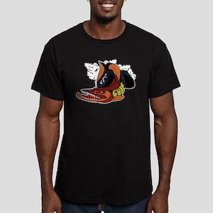 Vintage Cuda Fish Men's Fitted T-Shirt (dark)