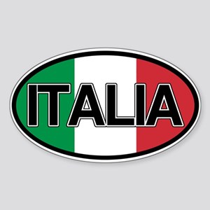 Italy Car Sticker Decal Oval by LandsAndPeople.com