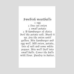 Swedish Meatball recipe on Rectangle Sticker