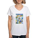 Slated Watercolor Women's V-Neck T-Shirt