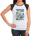 Slated Watercolor Women's Cap Sleeve T-Shirt