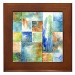Slated Watercolor Framed Tile
