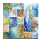 Slated Watercolor Tile Coaster
