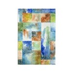 Slated Watercolor Rectangle Magnet (10 pack)