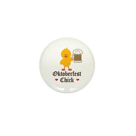 Oktoberfest Chick Mini Button (10 pack)