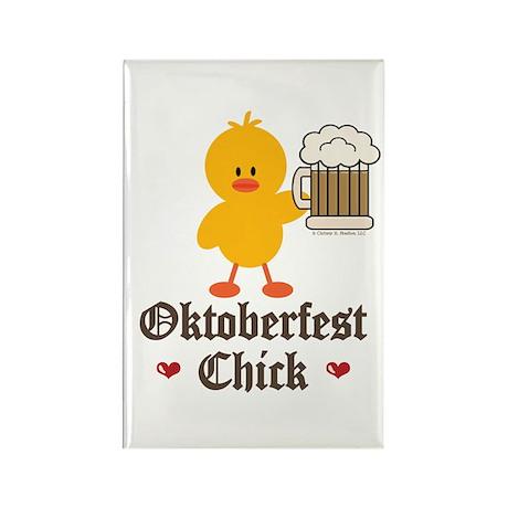Oktoberfest Chick Rectangle Magnet (100 pack)