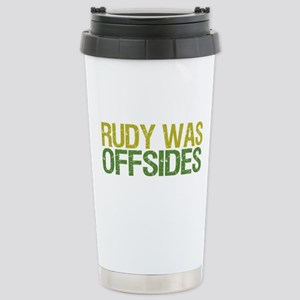 Rudy Was Offsides Stainless Steel Travel Mug