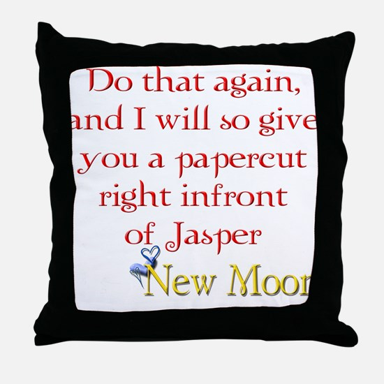 Papercut Funny Jasper Twiligh Throw Pillow
