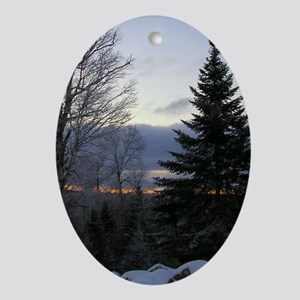Morning Sky Oval Ornament