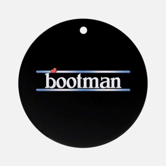Bootman Ornament (Round)