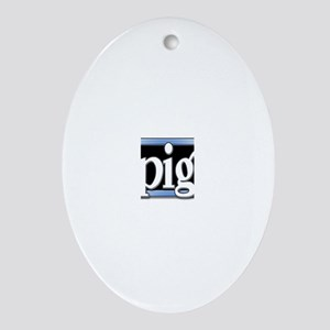 Pig (oval) Oval Ornament