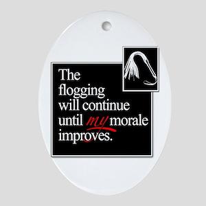 Flogging Morale Ornament (Oval)