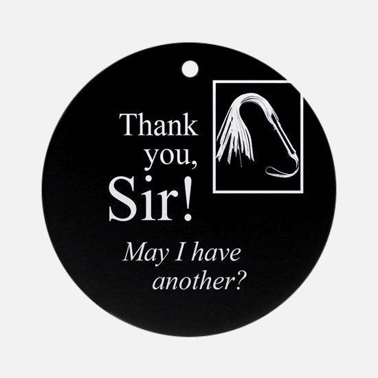 Thank You Sir Ornament (Round)