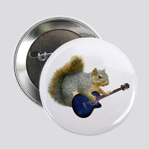 """Squirrel with Blue Guitar 2.25"""" Button"""