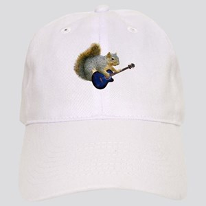 Squirrel with Blue Guitar Cap