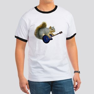 Squirrel with Blue Guitar Ringer T