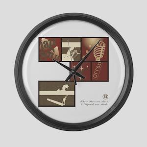 JAZZ - SOUL Large Wall Clock