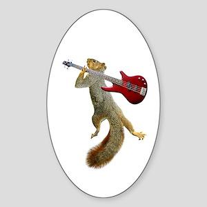 Squirrel Red Guitar Sticker (Oval)