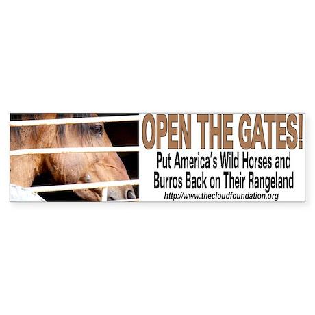 Open the Gates! Bumper Sticker