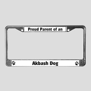 Proud: Akbash Dog License Plate Frame