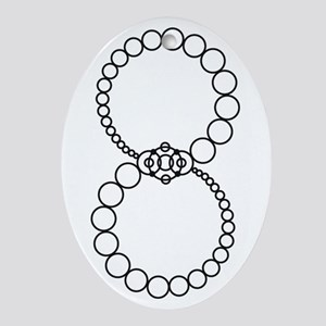 Analemma Crop Circle Graphic Oval Ornament