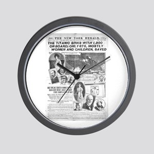 newspaper headlines wall clocks cafepress