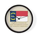 Proud Citizen of North Carolina Wall Clock