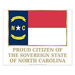 Proud Citizen of North Carolina Small Poster