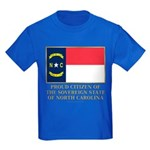 Proud Citizen of North Carolina Kids Dark T-Shirt