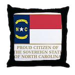 Proud Citizen of North Carolina Throw Pillow