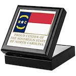 Proud Citizen of North Carolina Keepsake Box