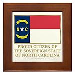 Proud Citizen of North Carolina Framed Tile