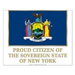 New York Proud Citizen Small Poster