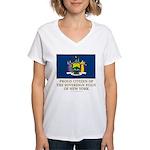 New York Proud Citizen Women's V-Neck T-Shirt