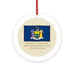 New York Proud Citizen Ornament (Round)