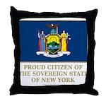New York Proud Citizen Throw Pillow