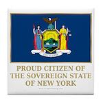 New York Proud Citizen Tile Coaster