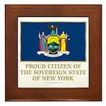 New York Proud Citizen Framed Tile