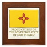 New Mexico Proud Citizen Framed Tile
