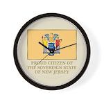 New Jersey Proud Citizen Wall Clock