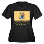 New Jersey Proud Citizen Women's Plus Size V-Neck