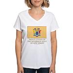 New Jersey Proud Citizen Women's V-Neck T-Shirt