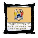 New Jersey Proud Citizen Throw Pillow